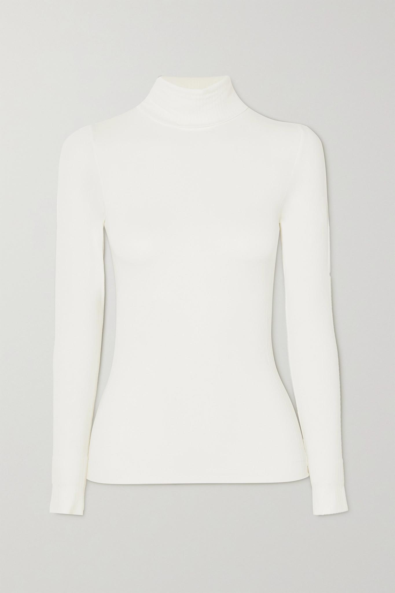 FUSALP - Alisier Ii 莫代尔混纺高领上衣 - 白色 - M/L