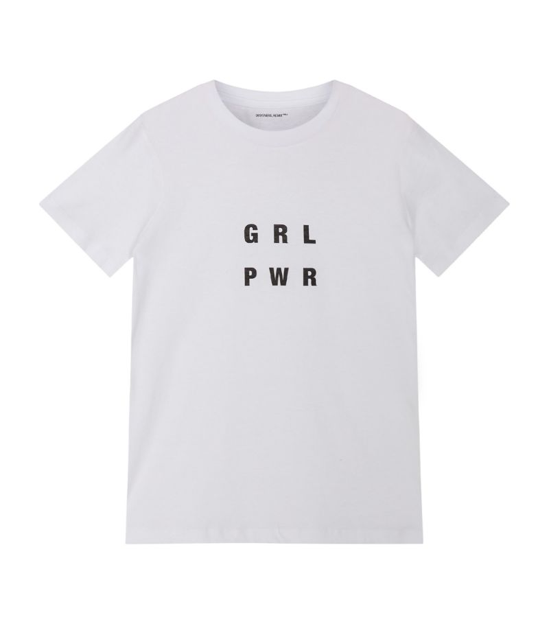 Designers Remix Kids Stanley Grl Pwr T-Shirt (6-16 Years)