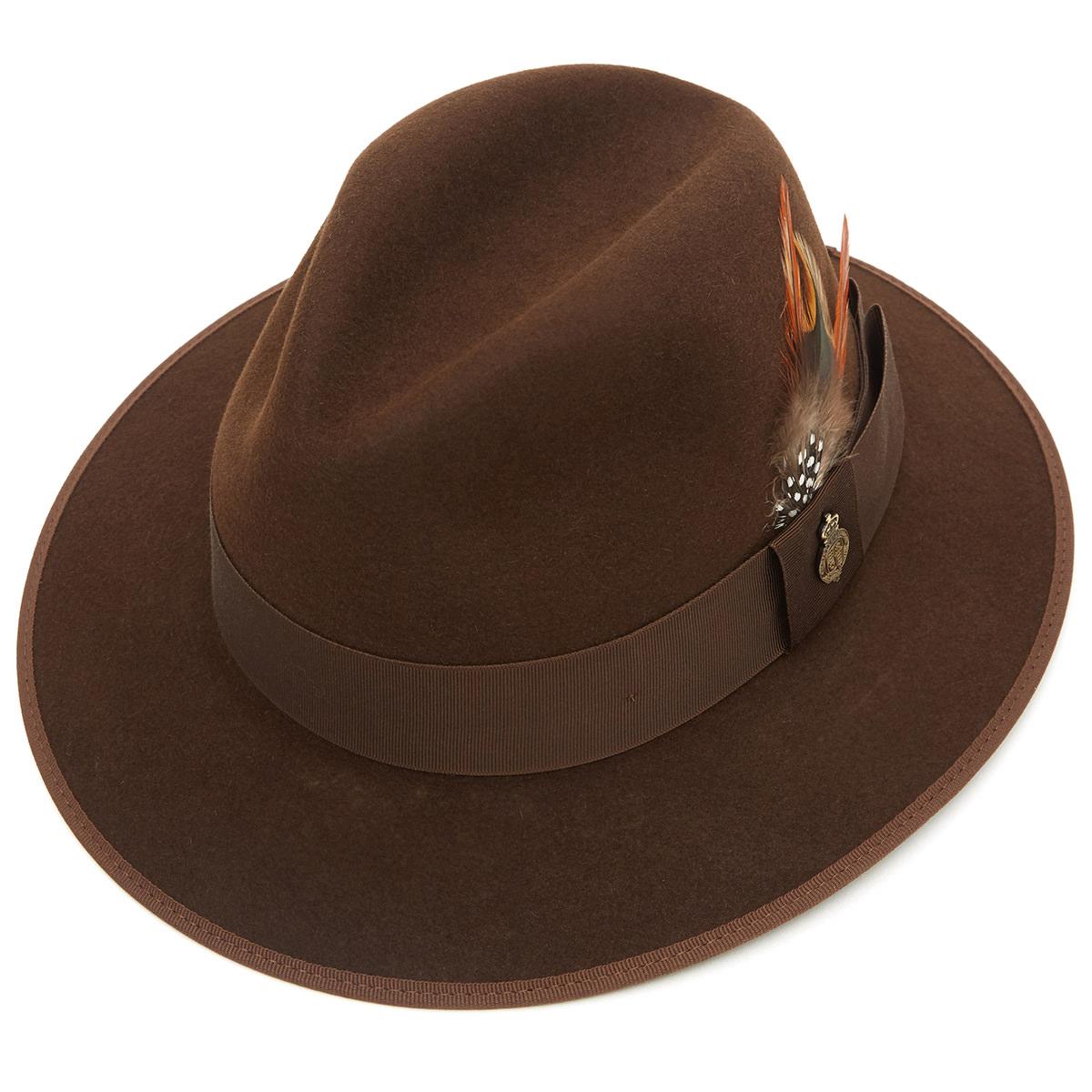 Farnham Down Brim Fur Felt Trilby Hat Sable 60