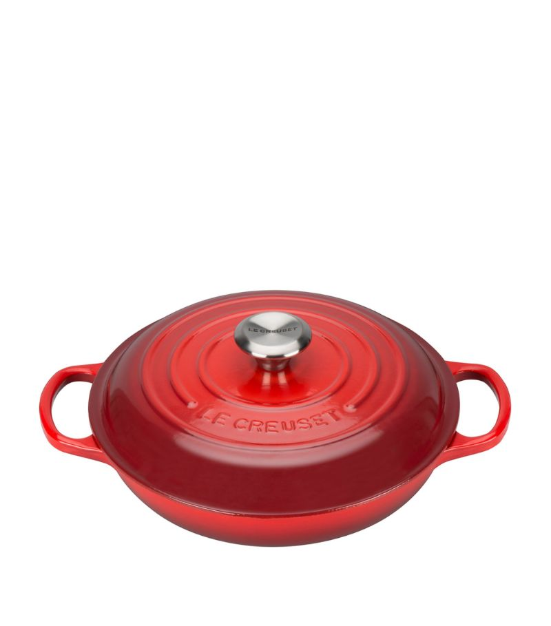 Le Creuset Cerise Shallow Casserole Dish (26Cm)
