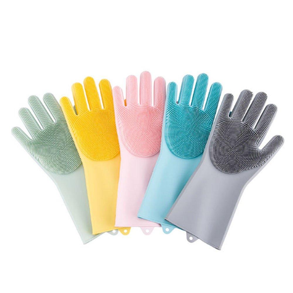 【PinUpin】廚房專用矽膠手套/洗碗手套 #粉紅/粉藍 兩色可選