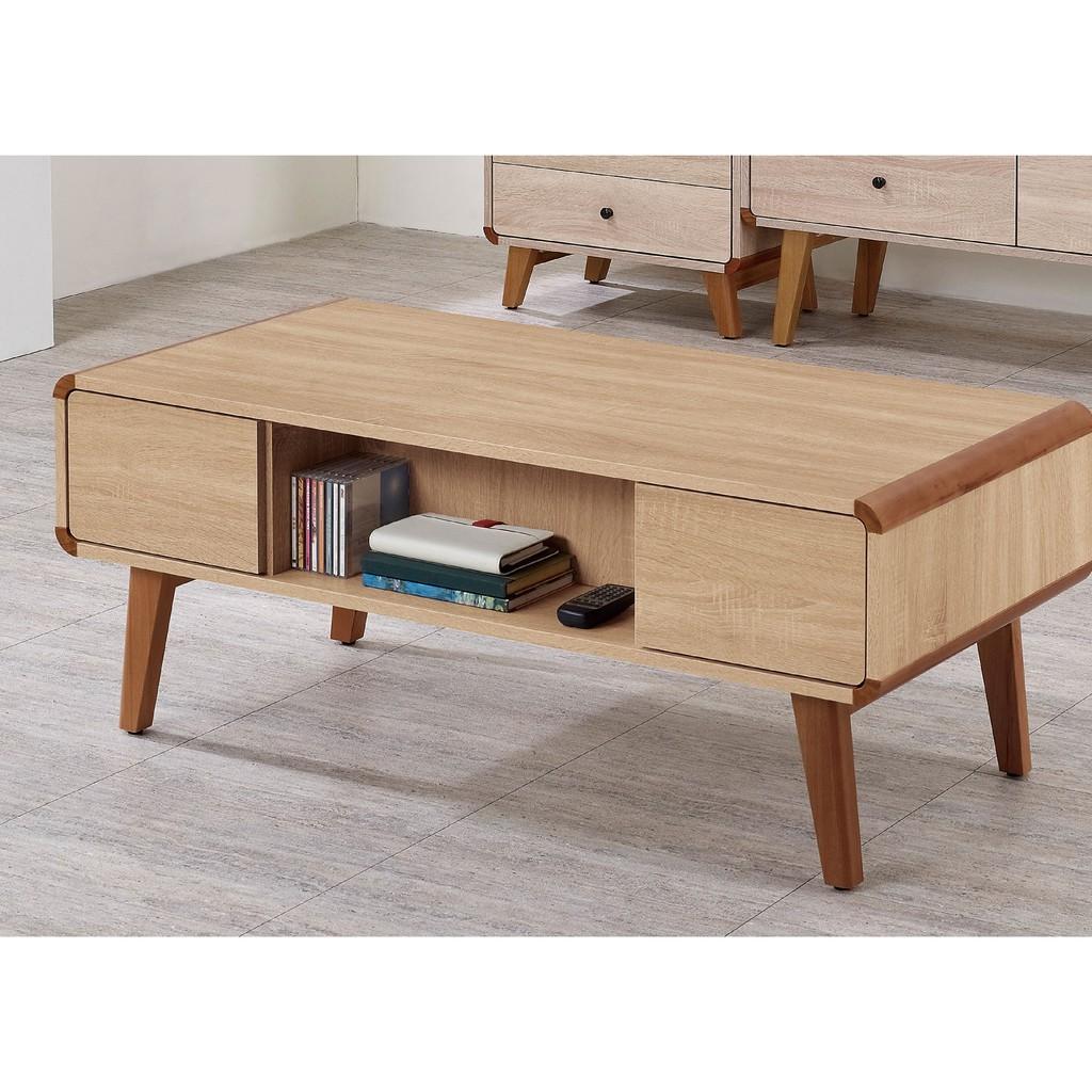 【119cm大茶几-A272-2】實木原木玻璃 大理石長方桌 大小邊几 圓桌 【金滿屋】
