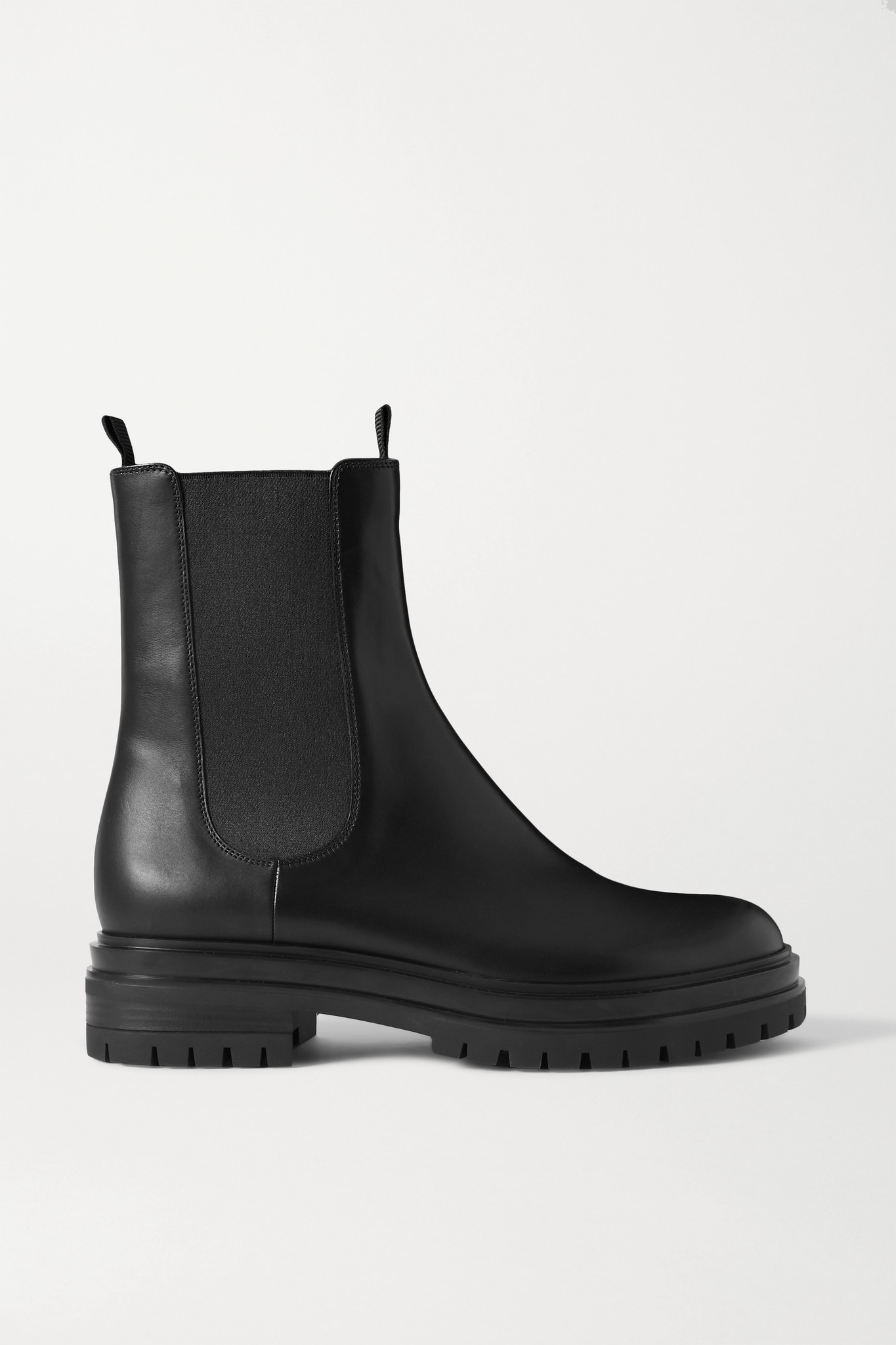 GIANVITO ROSSI - 皮革切尔西靴 - 黑色 - IT35