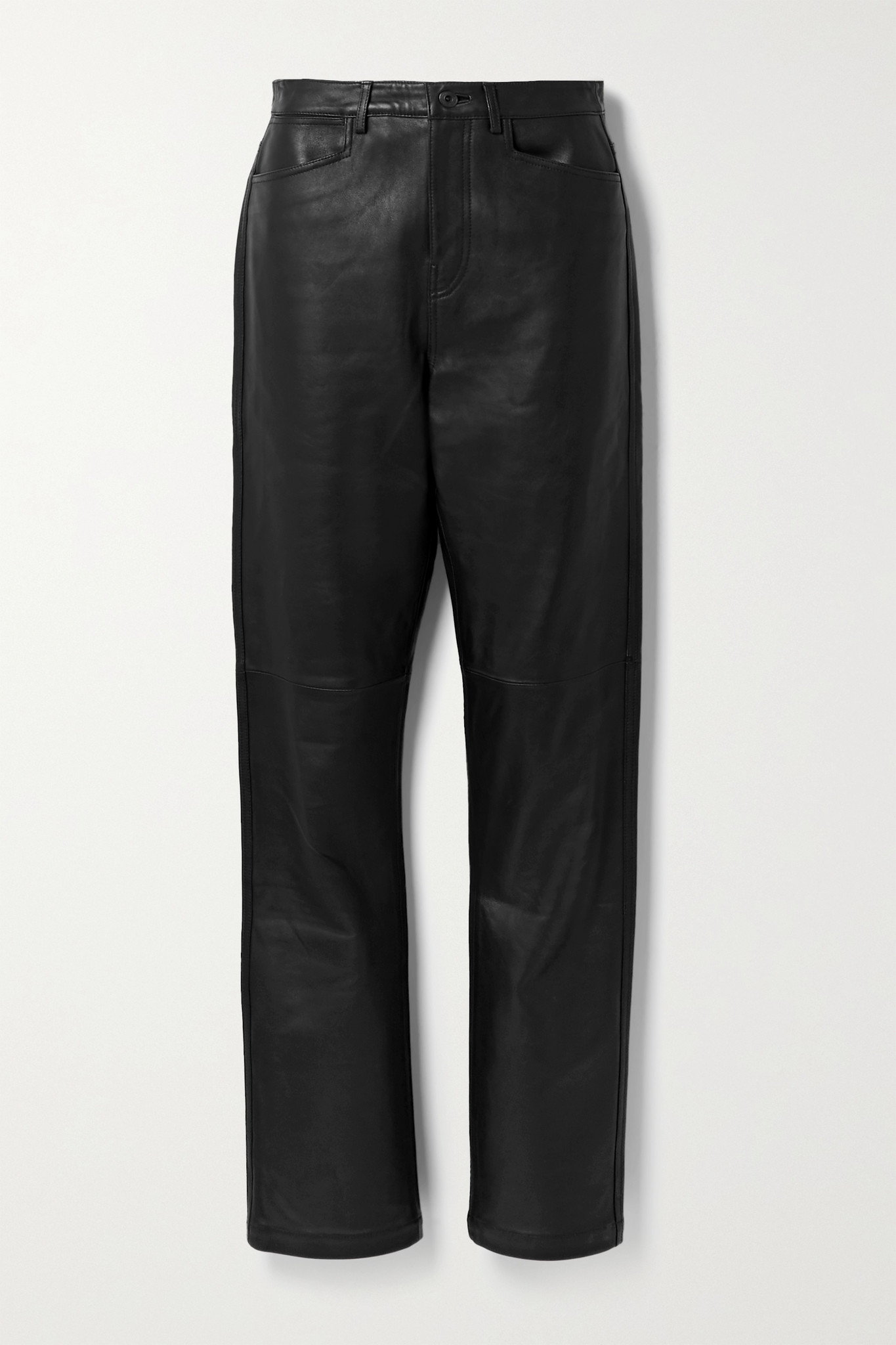 PROENZA SCHOULER WHITE LABEL - Leather Straight-leg Pants - Black - US0