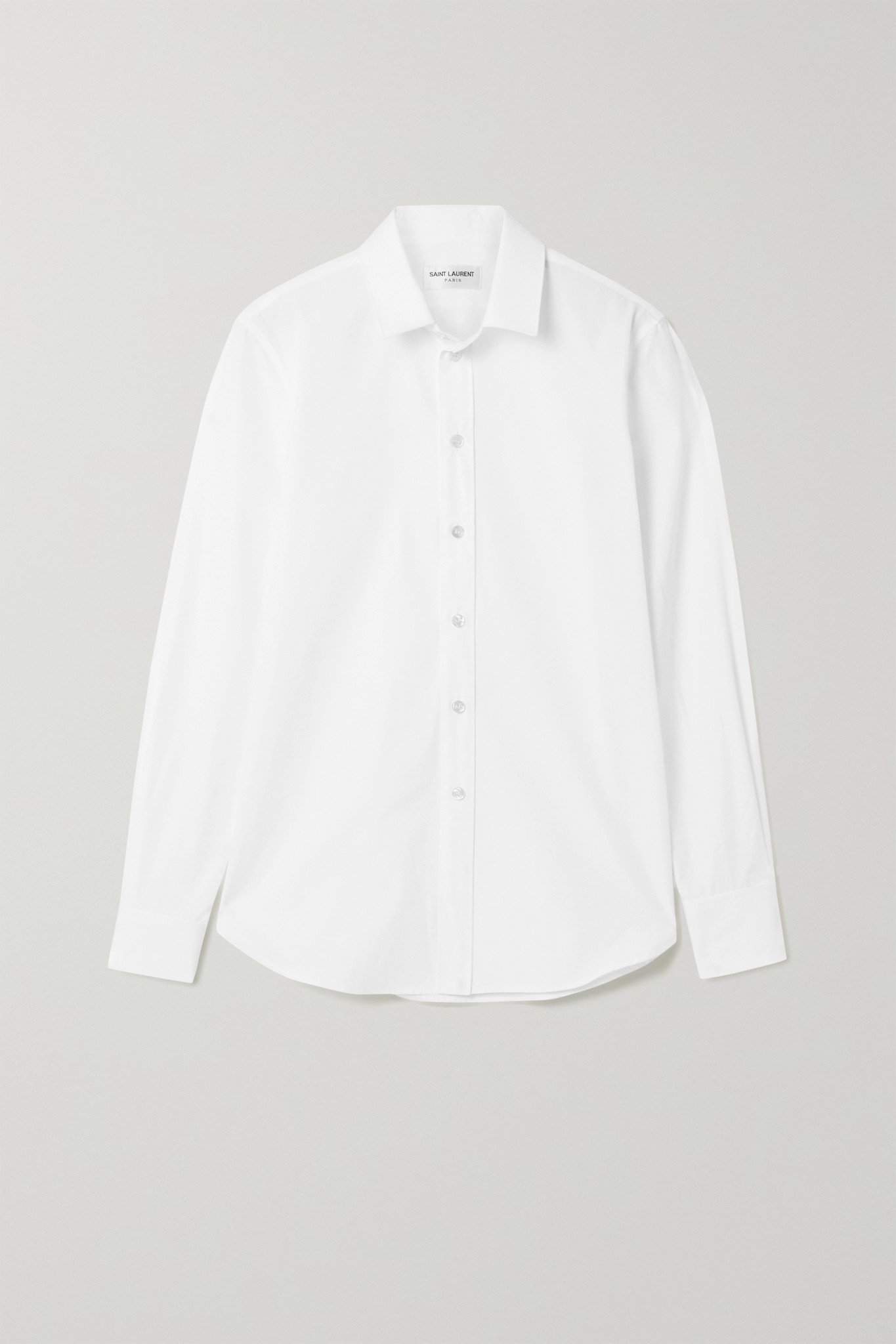 SAINT LAURENT - Cotton-poplin Shirt - White - FR34