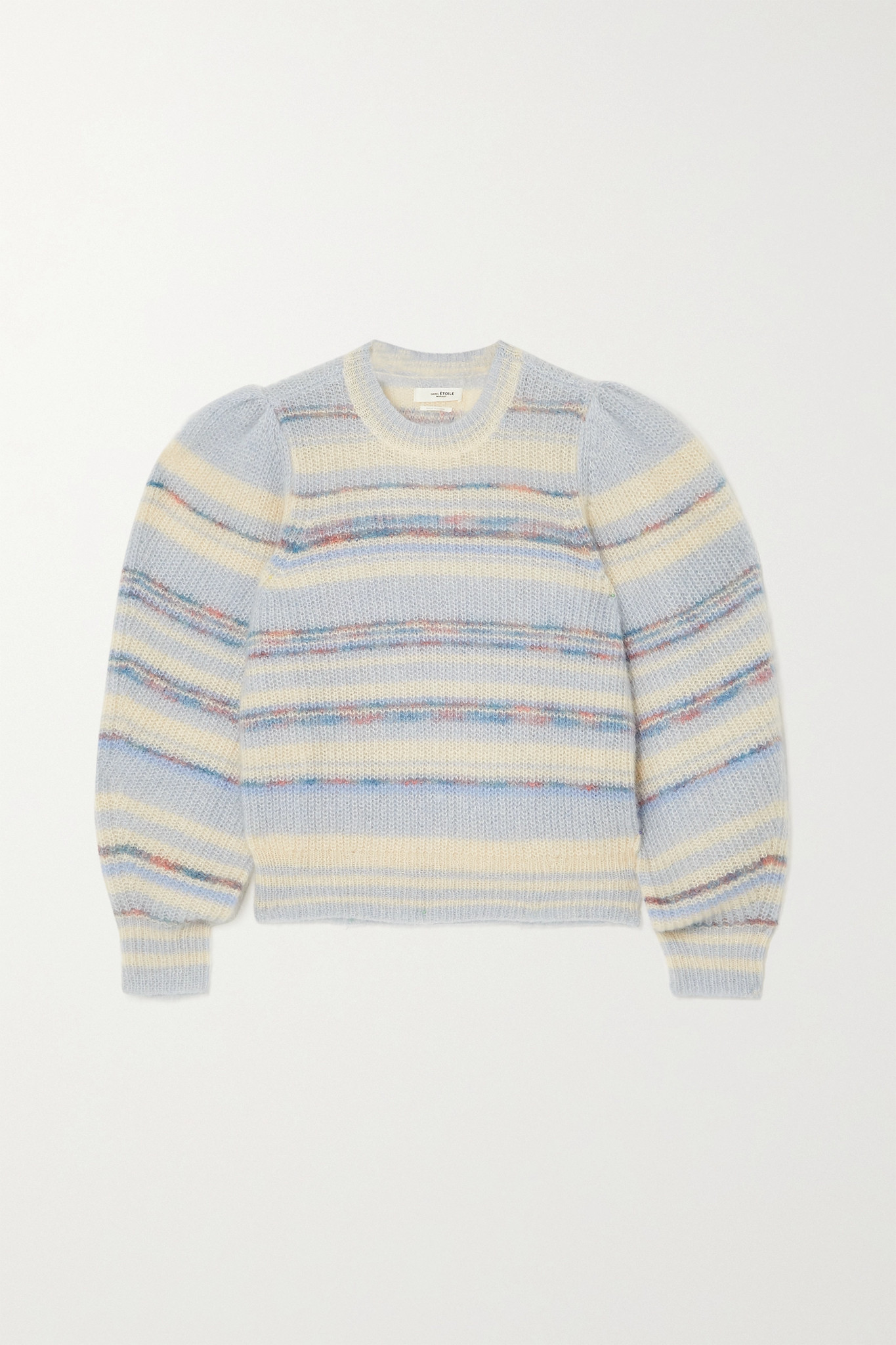ISABEL MARANT ÉTOILE - Eleonore Striped Mohair-blend Sweater - Blue - FR42