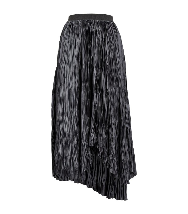 Fabiana Filippi Pleated Asymmetric Midi Skirt