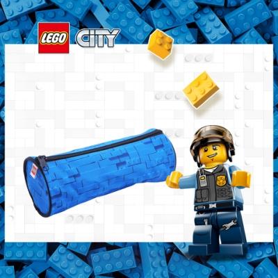 LEGO丹麥樂高圓筒狀鉛筆盒-藍色 10050-2003