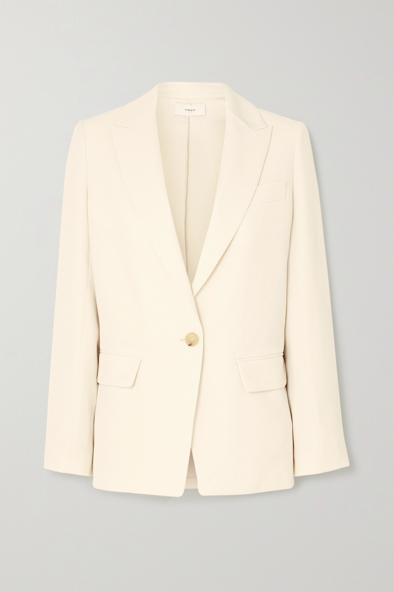 VINCE - Boyfriend 梭织西装外套 - 米白色 - US4