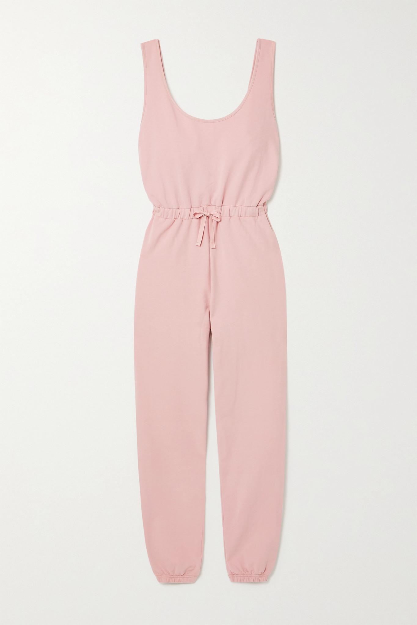 NINETY PERCENT - + Net Sustain Brushed Organic Cotton-jersey Jumpsuit - Pink - small