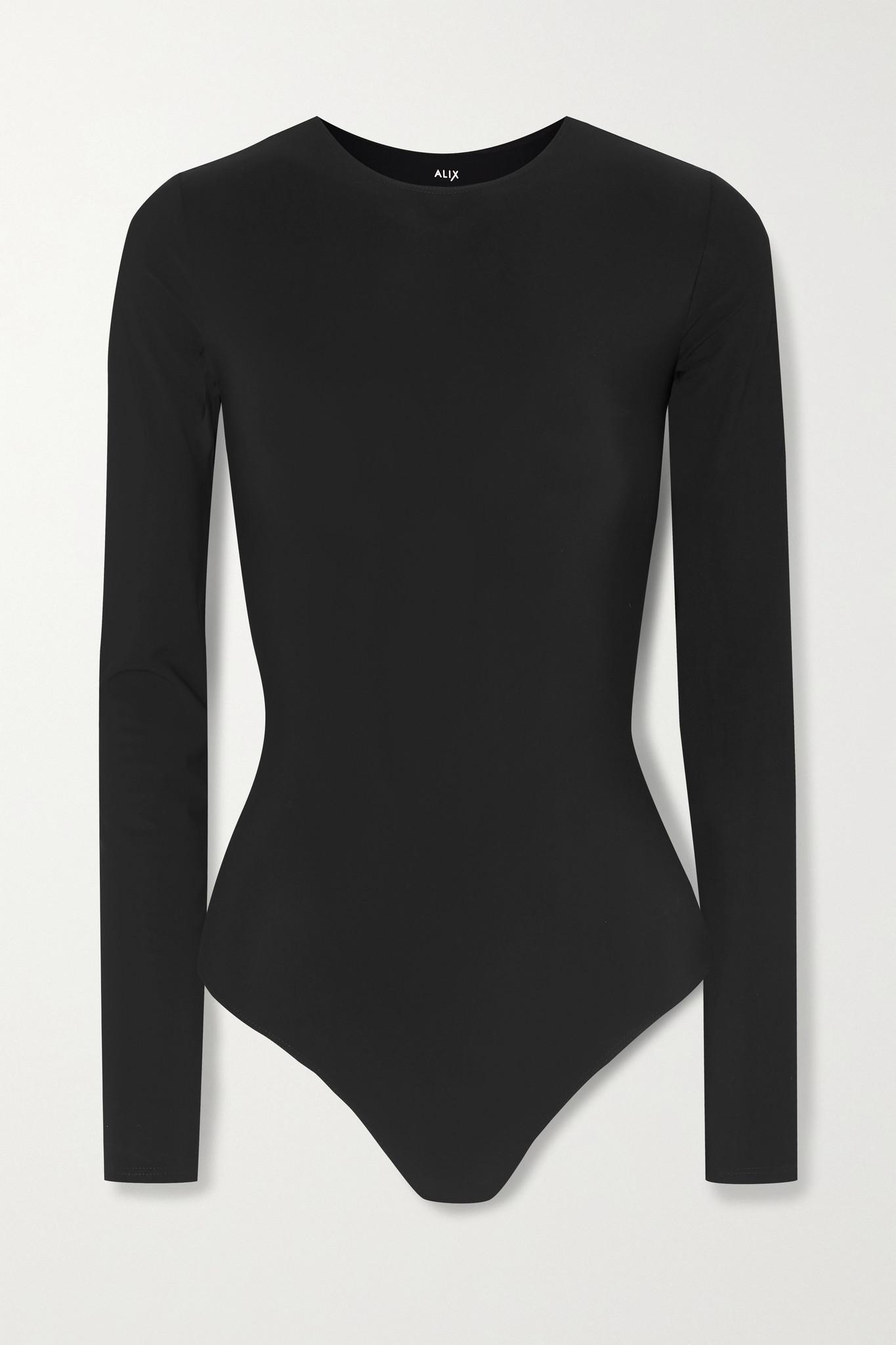 ALIX NYC - Leroy Stretch-jersey Thong Bodysuit - Black - large