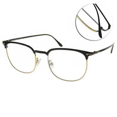 TOM FORD光學眼鏡 經典圓框款/黑-銀 #TF5549-B 001