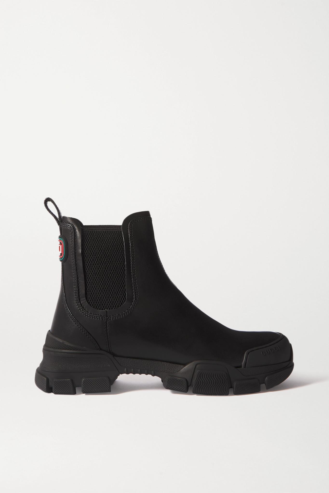GUCCI - Leon 皮革切尔西靴 - 黑色 - IT41