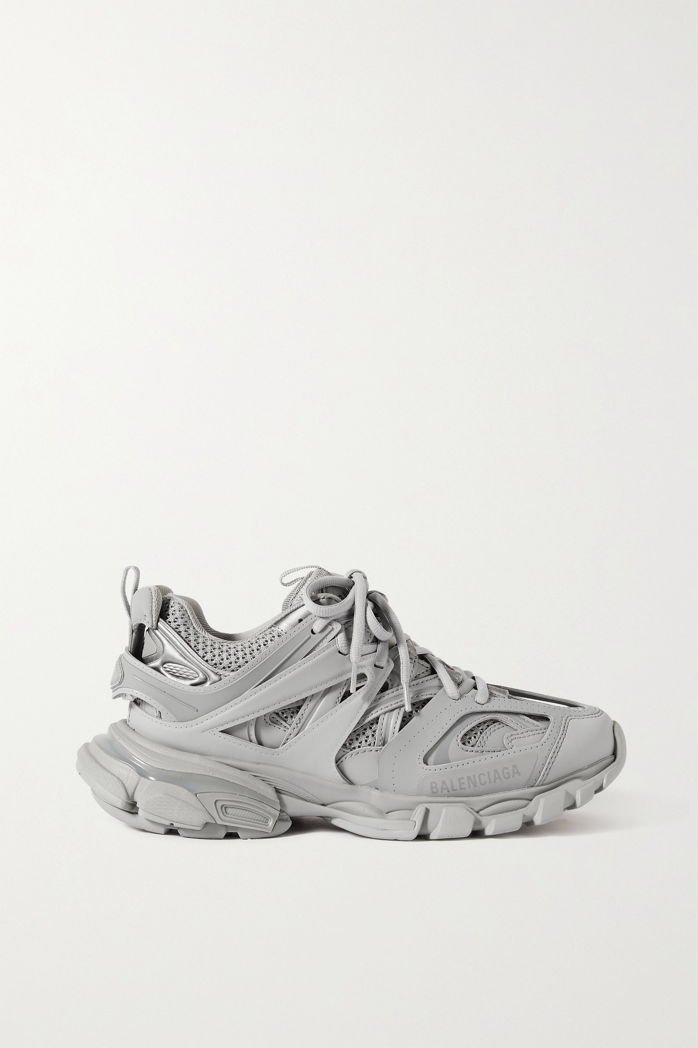 BALENCIAGA - Track 品牌标志细节网眼橡胶运动鞋 - 灰色 - IT38