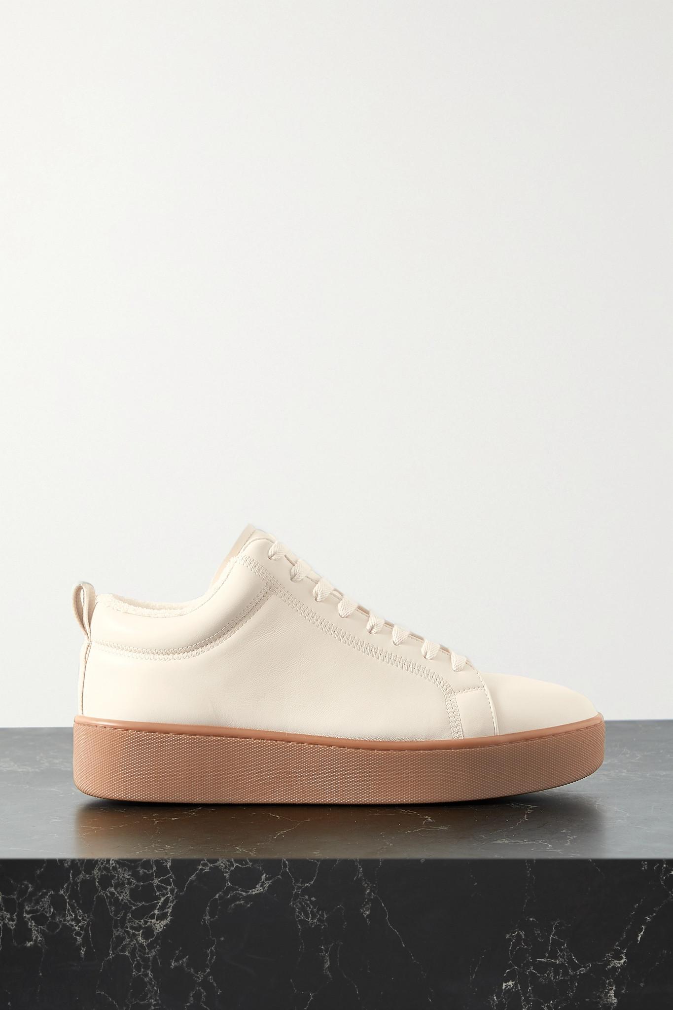 BOTTEGA VENETA - Leather Platform Sneakers - Off-white - IT36