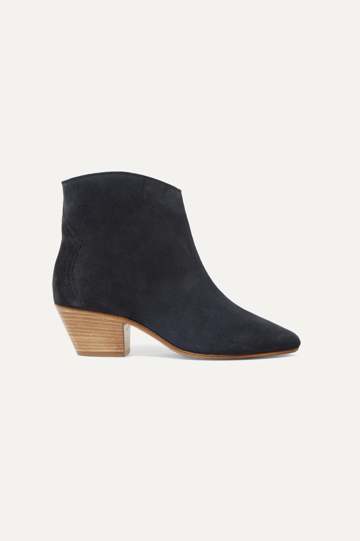 ISABEL MARANT - Dacken 绒面革踝靴 - 黑色 - FR36