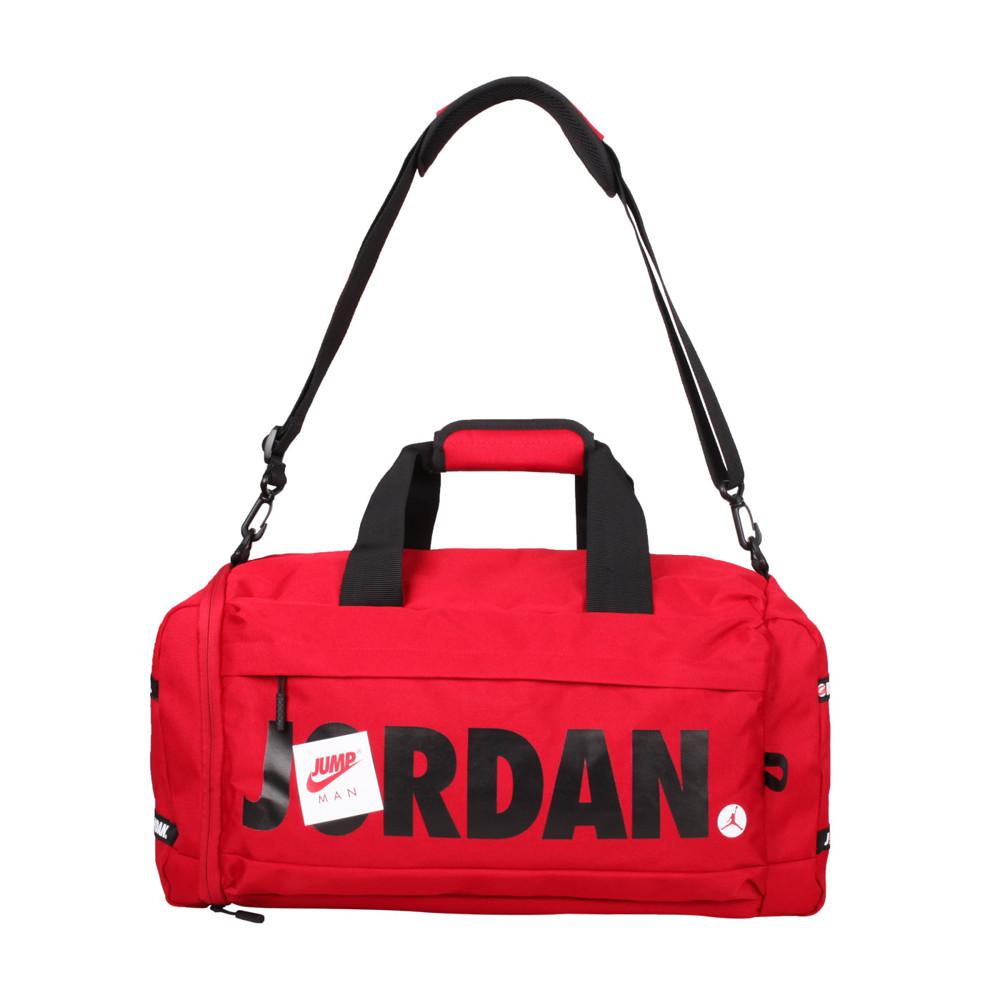 nike jordan 大型旅行袋-側背包 裝備袋 手提包 肩背包 紅黑白