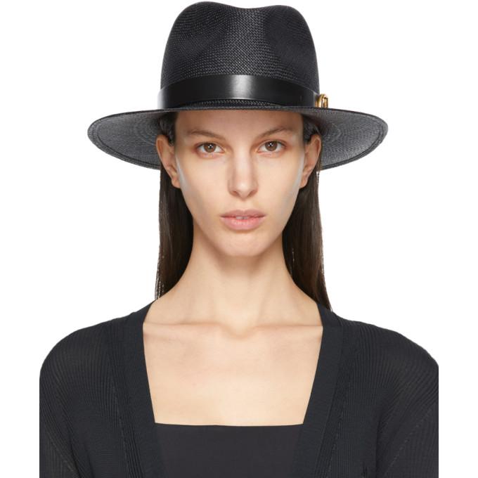 Valentino 黑色 Valentino Garavani 系列 Signature VLogo 绅士帽