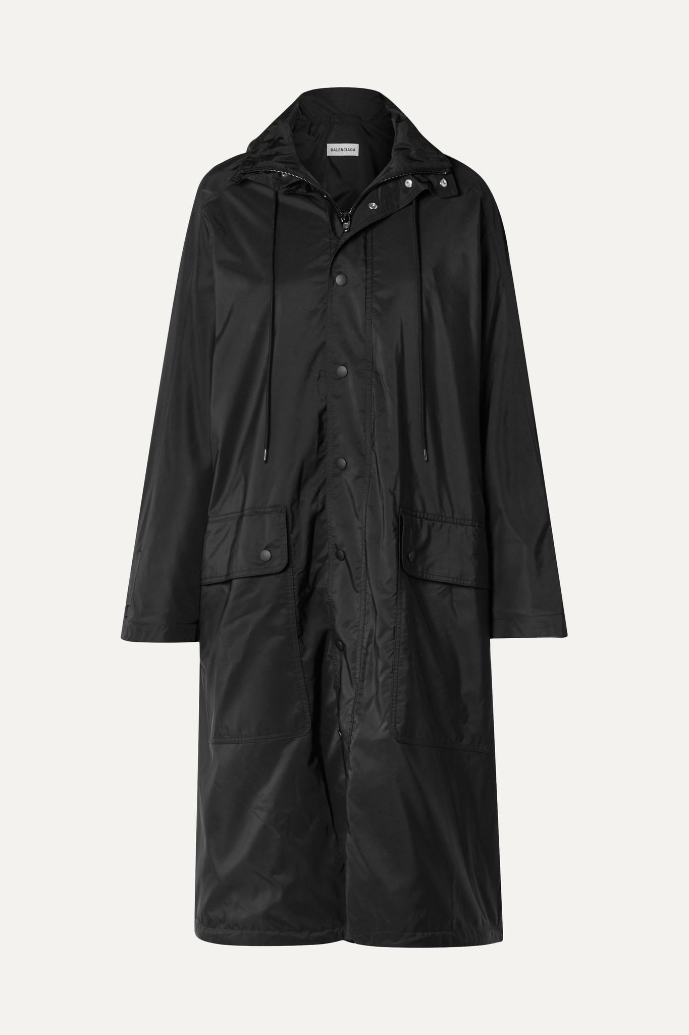 BALENCIAGA - Opera 大廓形印花反光软壳面料雨衣 - 黑色 - FR34