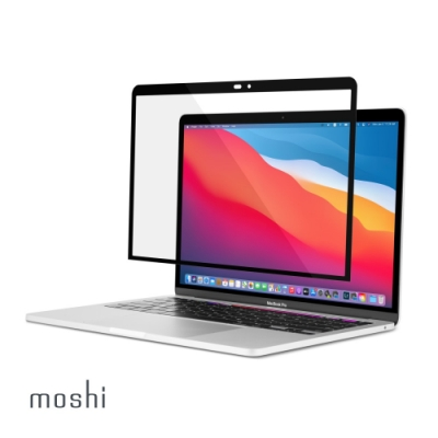 Moshi iVisor XT for MacBook Pro/Air 13 無氣泡易安裝亮面螢幕保護貼