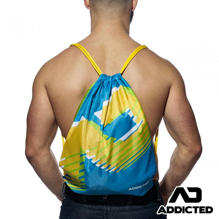 ★初春購物祭★2件79折★ADDICTED上癮系列運動健身袋(藍色),AD-MG658B2,西班牙品牌,束口袋