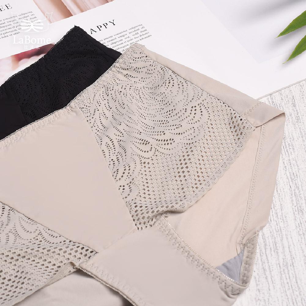 內褲 LaBome B10071 【零感啵啵】蕾絲內褲。烟綠色 / 碳秘黑。L~XL