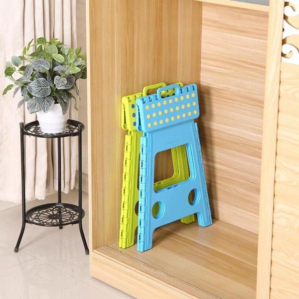 瀛欣摺疊凳子便攜式可手提45CM高防滑成人戶外餐桌椅塑料家用板凳 晴天時尚