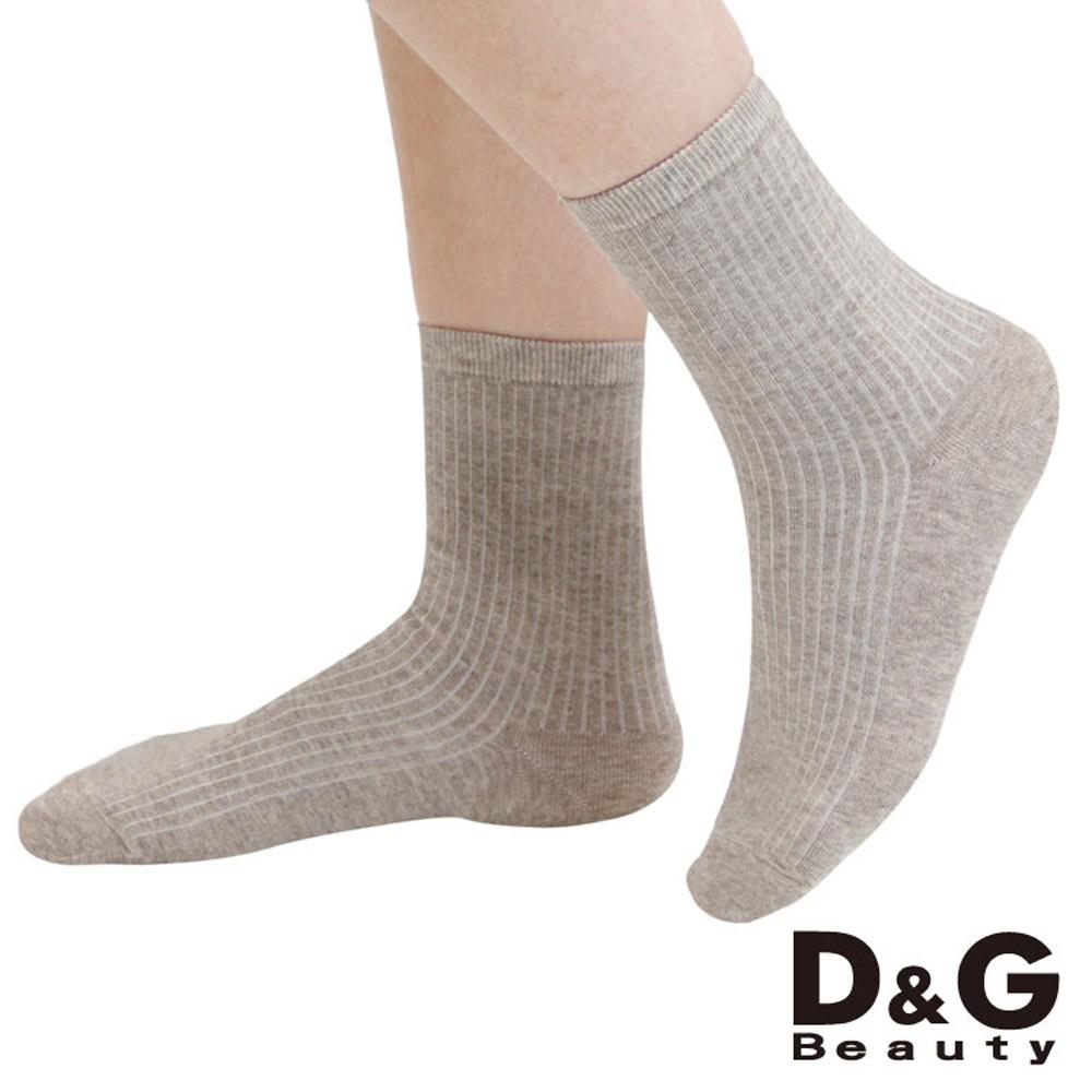【D&G】直條暗紋3/4女襪-D385 襪子 短襪