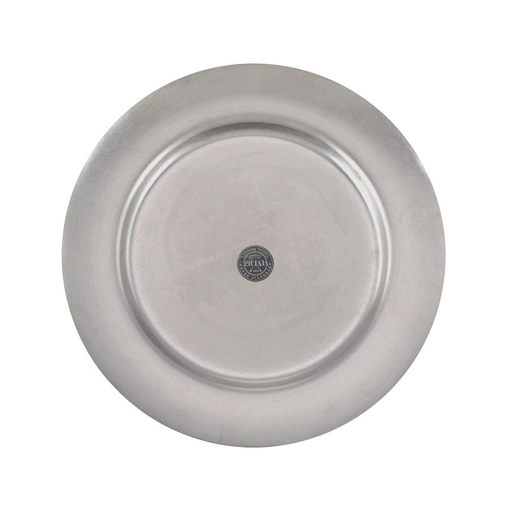 【AOYOSHI】仿舊不銹鋼圓餐盤 19.5cm