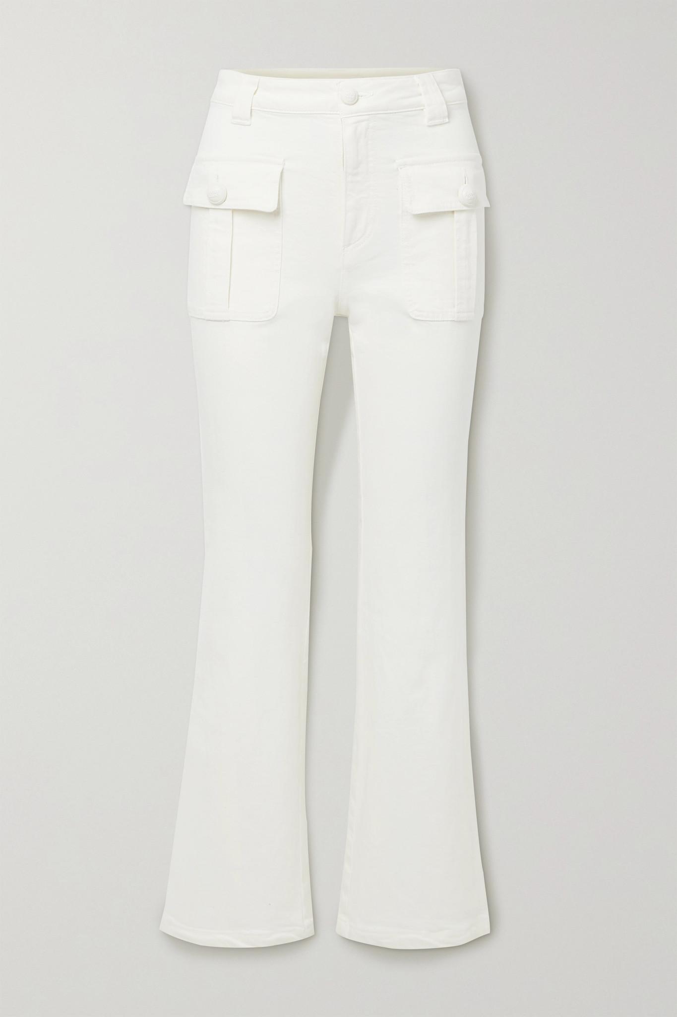 SEE BY CHLOÉ - 高腰喇叭牛仔裤 - 白色 - 27