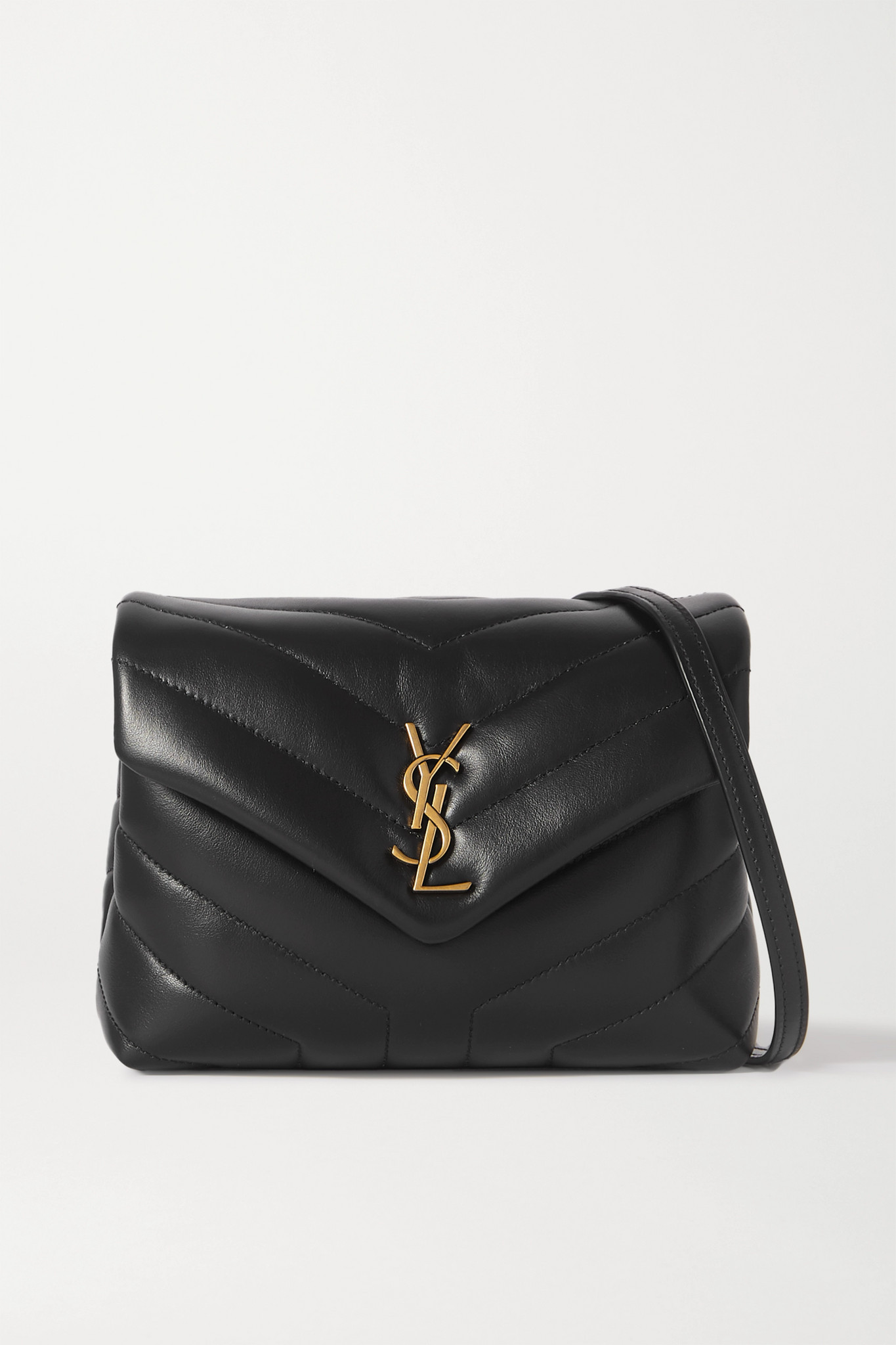 SAINT LAURENT - Loulou Toy Quilted Leather Shoulder Bag - Black - one size