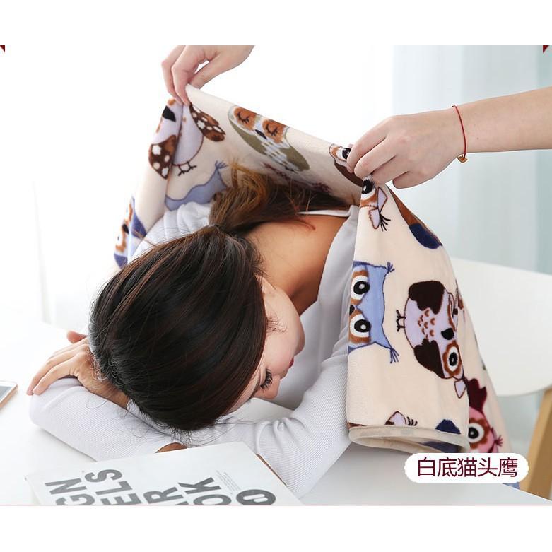 小毛毯毯子膝蓋毯辦公室蓋腿午睡毯蓋毯冬季兒童嬰兒學生單人雙層