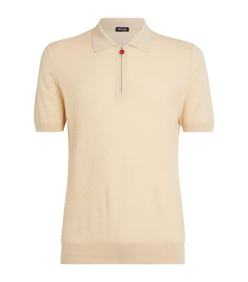 Kiton Textured-Knit Polo Shirt