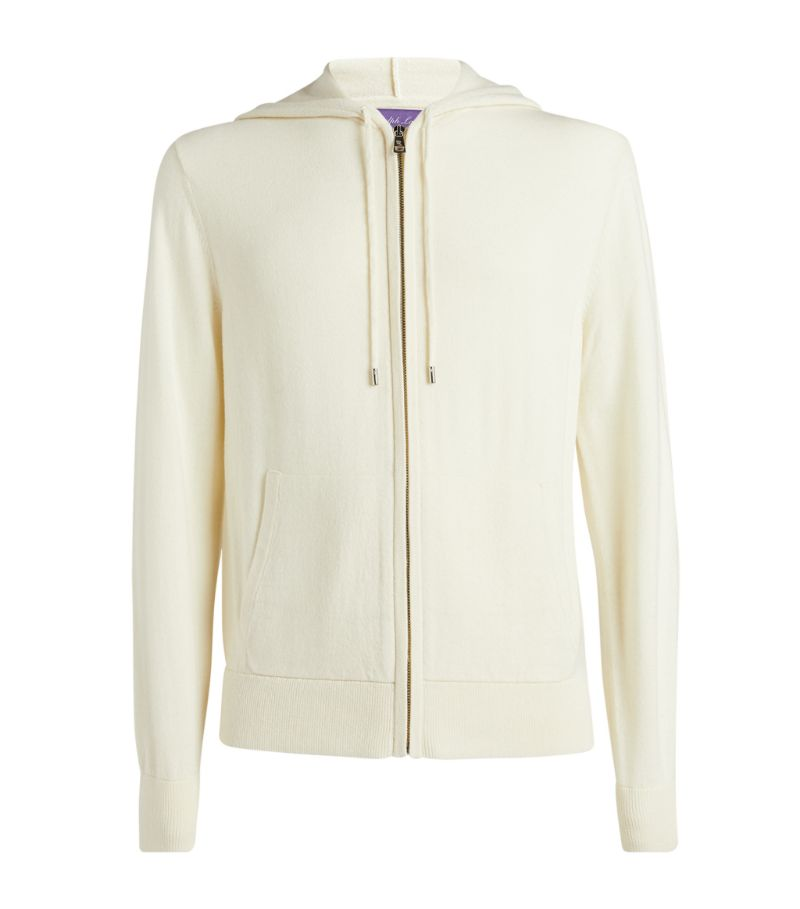 Ralph Lauren Purple Label Wool-Cashmere Zip-Up Hoodie