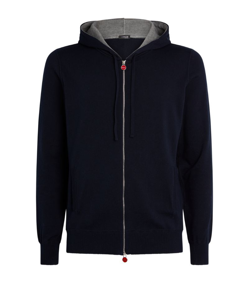 Kiton Cotton Zip-Up Hoodie