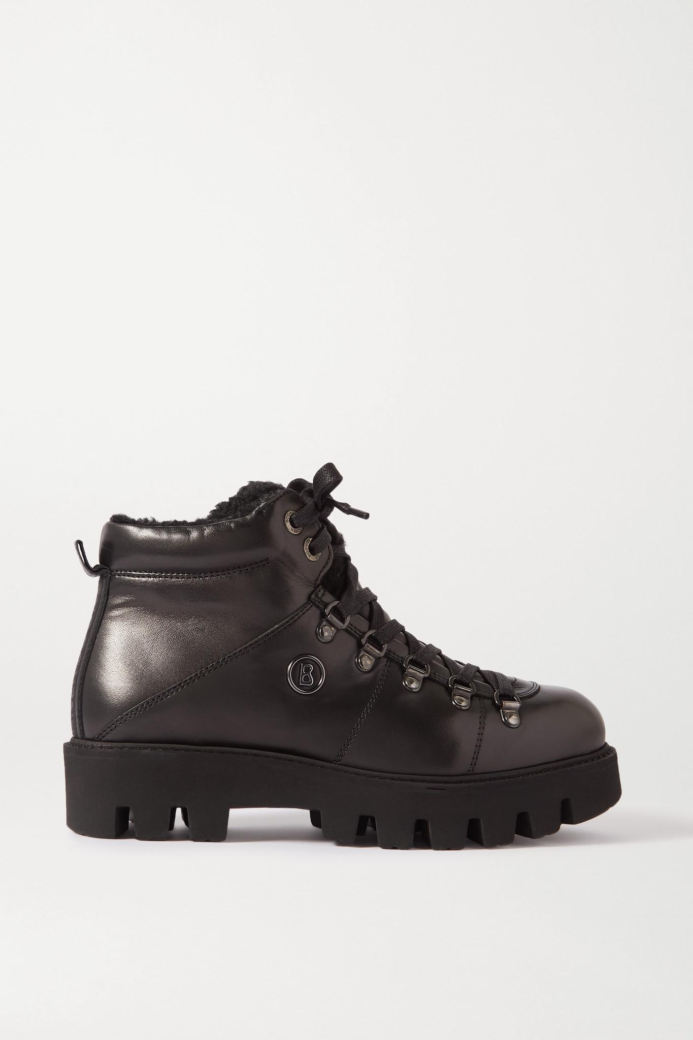 BOGNER - Copenhagen 羊毛皮衬里皮革踝靴 - 黑色 - IT40