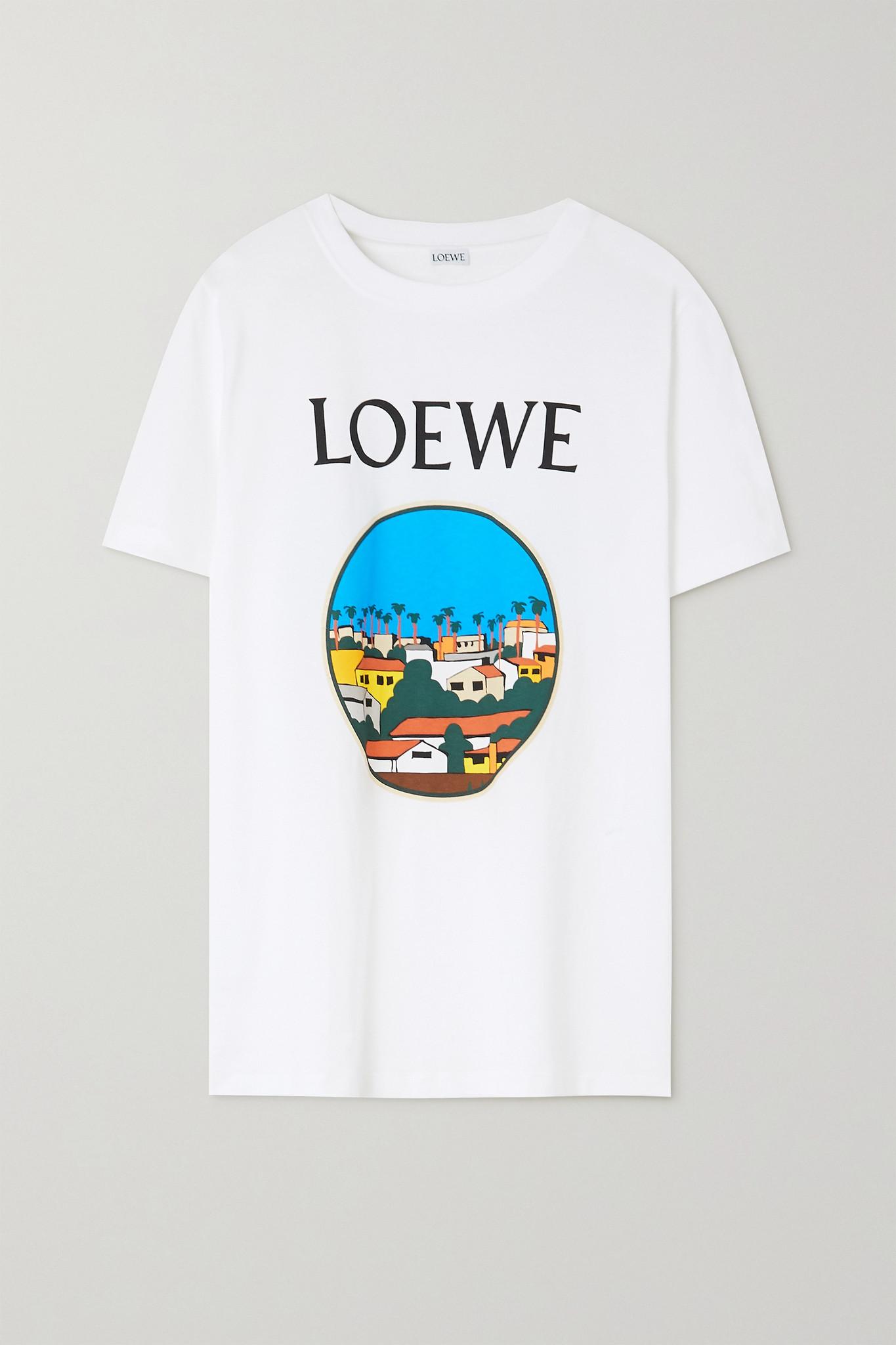 "LOEWE - X Ken Price ""la Series"" 印花纯棉平纹布 T 恤 - 白色 - x small"