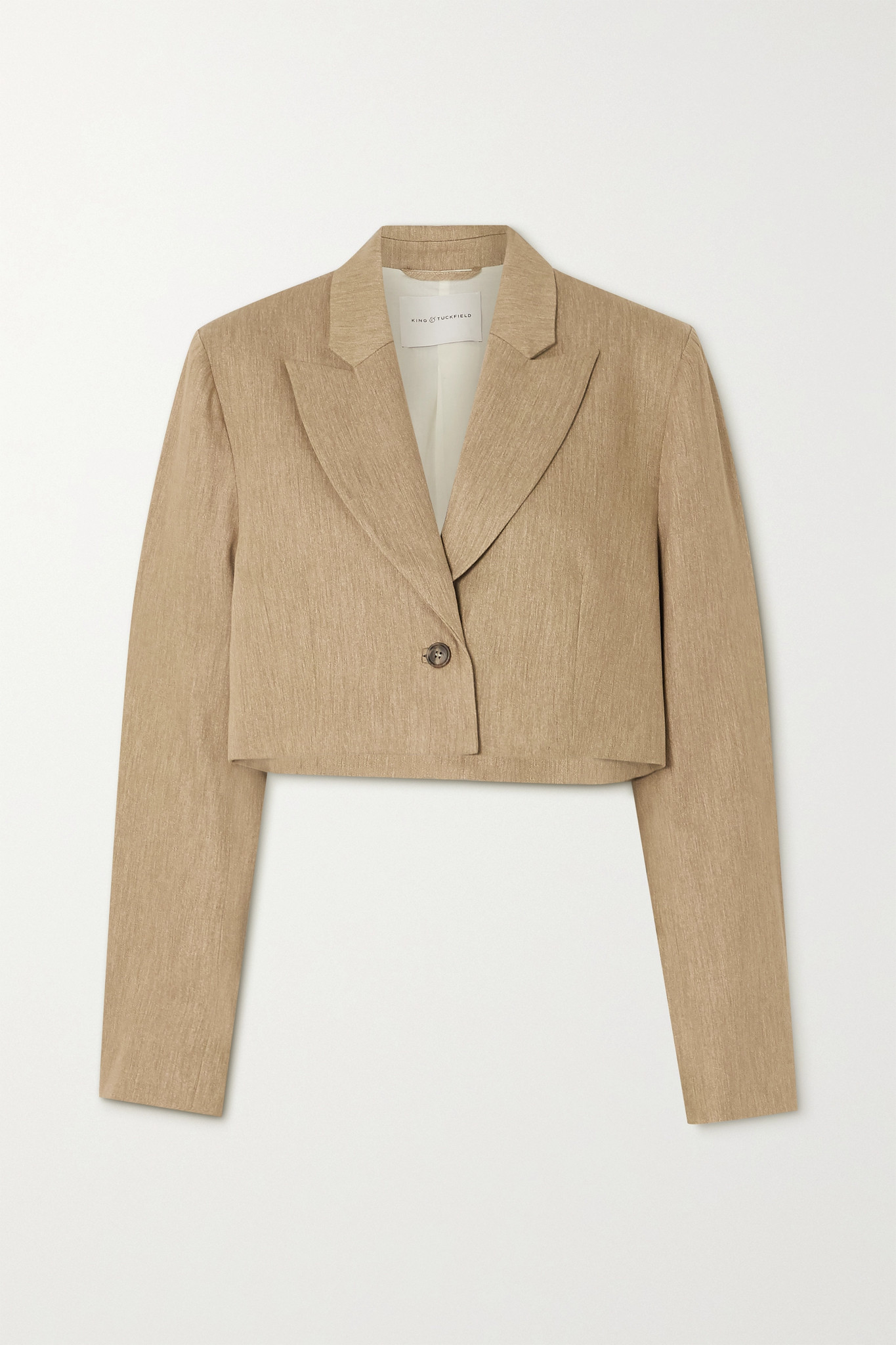 KING & TUCKFIELD - 纯棉短款西装外套 - 中性色 - small