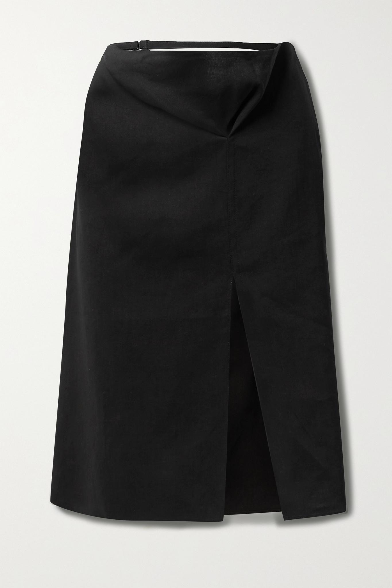 JACQUEMUS - 挖剪汉麻混纺半身裙 - 黑色 - FR36