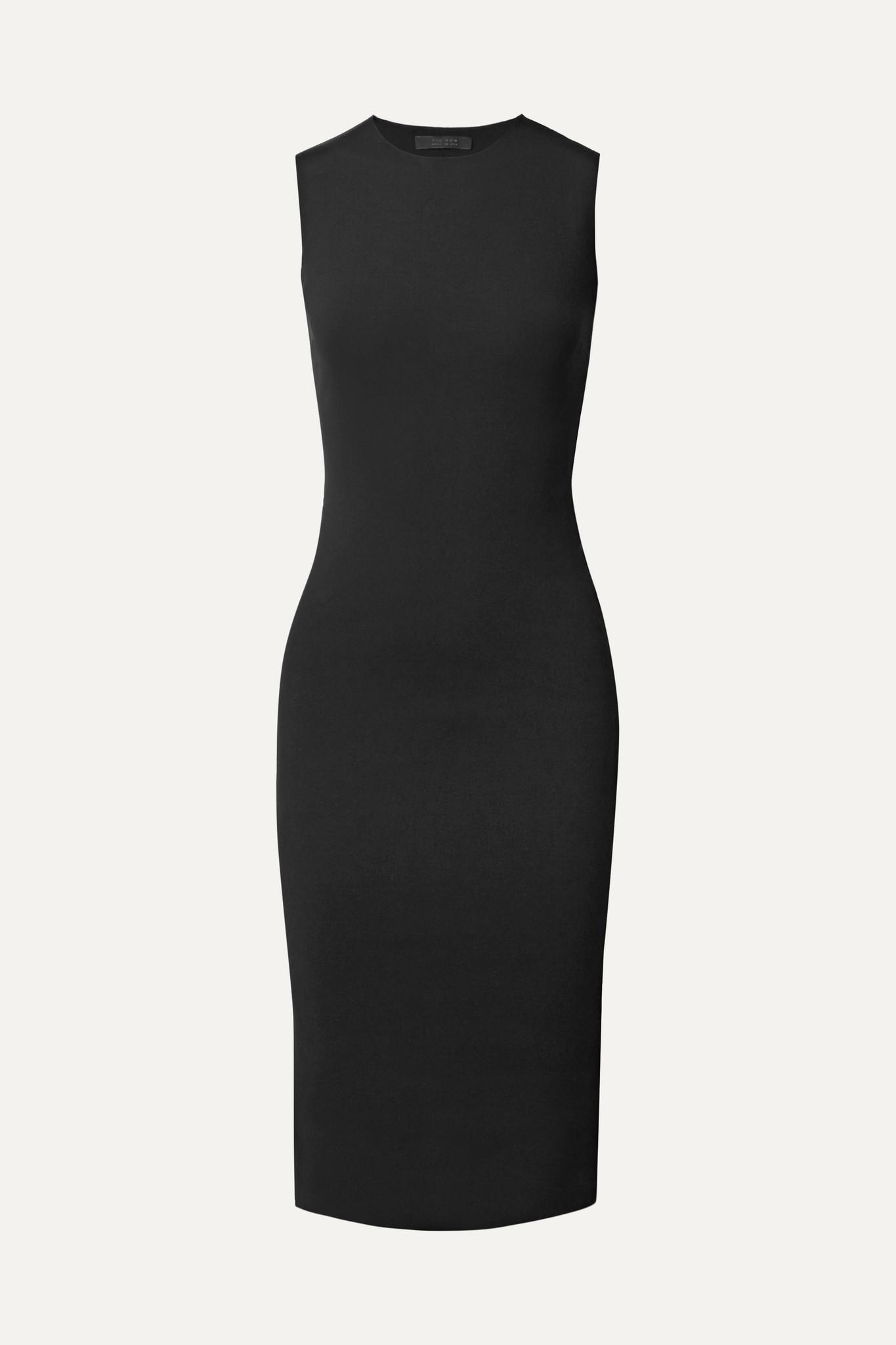 THE ROW - Devi 弹力潜水服面料连衣裙 - 黑色 - large