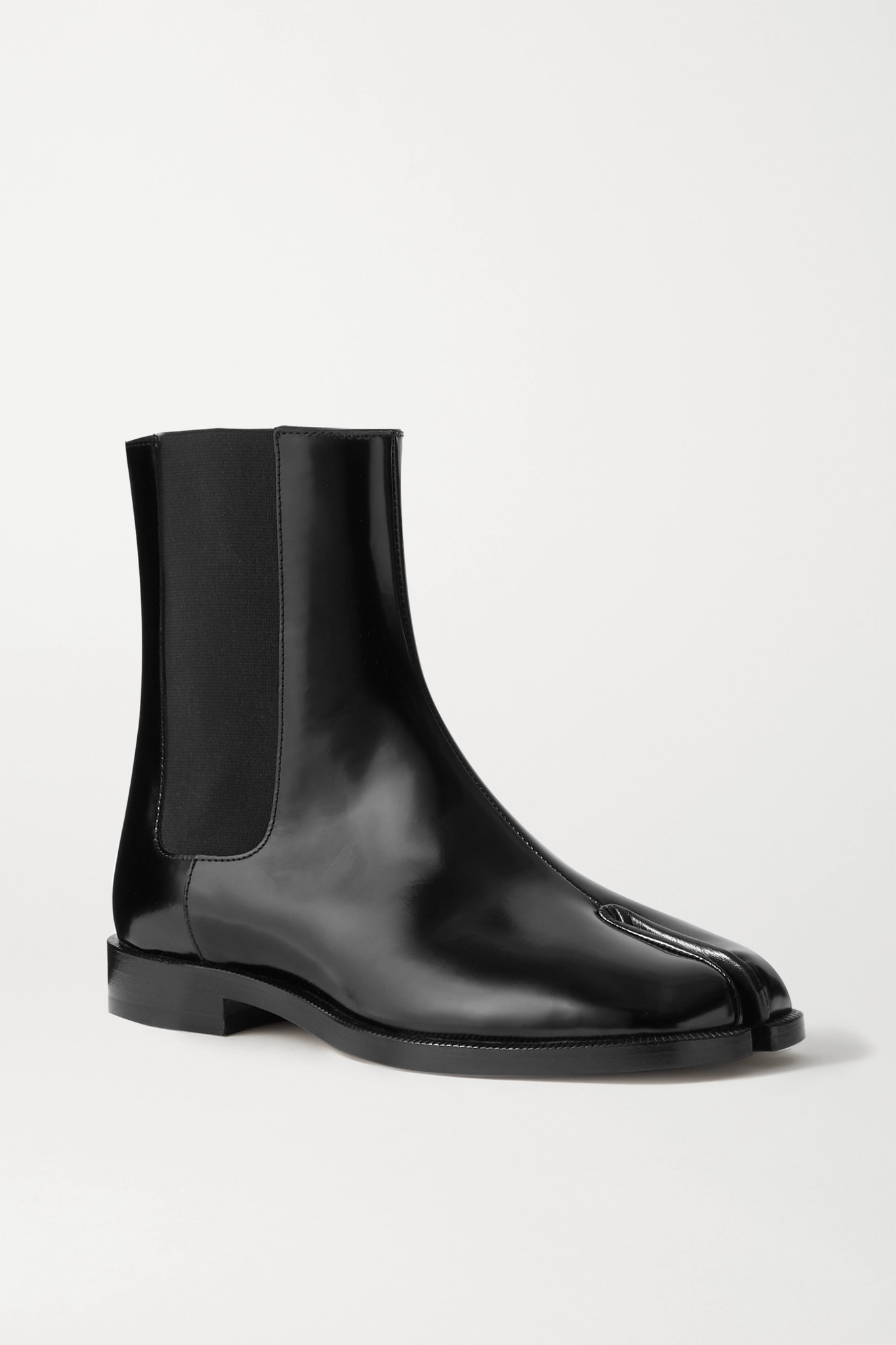 MAISON MARGIELA - Tabi 分趾漆皮切尔西靴 - 黑色 - IT37
