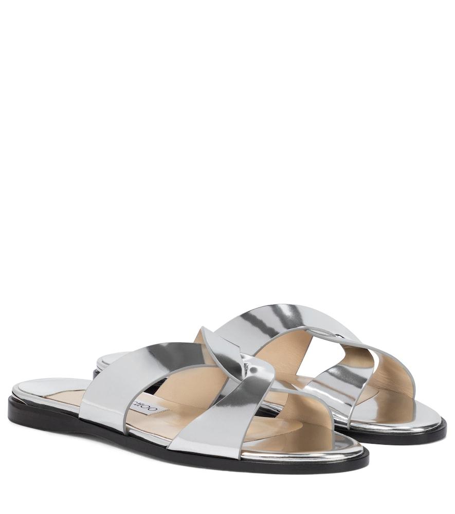Atia metallic leather sandals