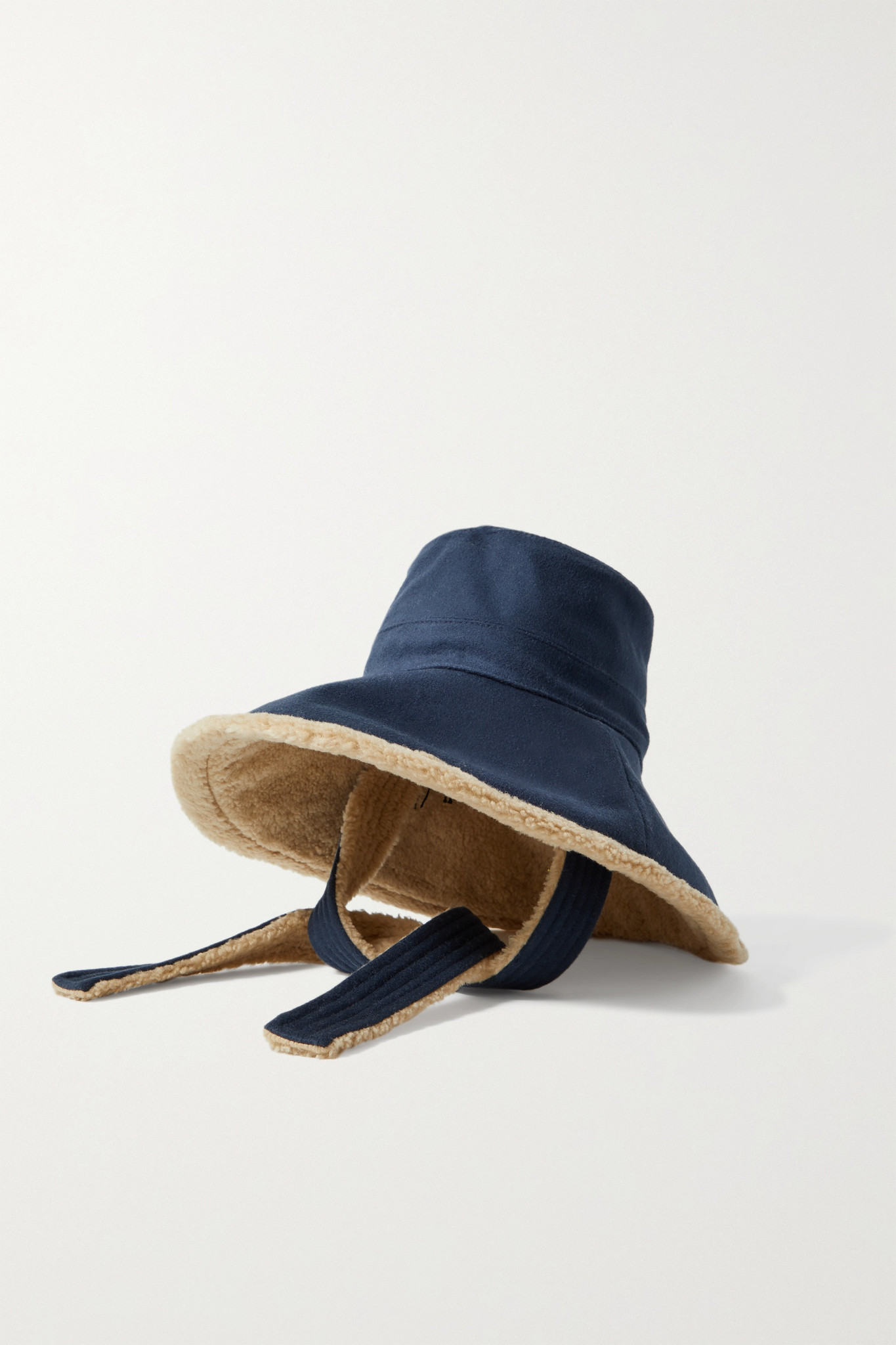 GUCCI - Faux Shearling-lined Wool And Cashmere-blend Felt Hat - Blue - S
