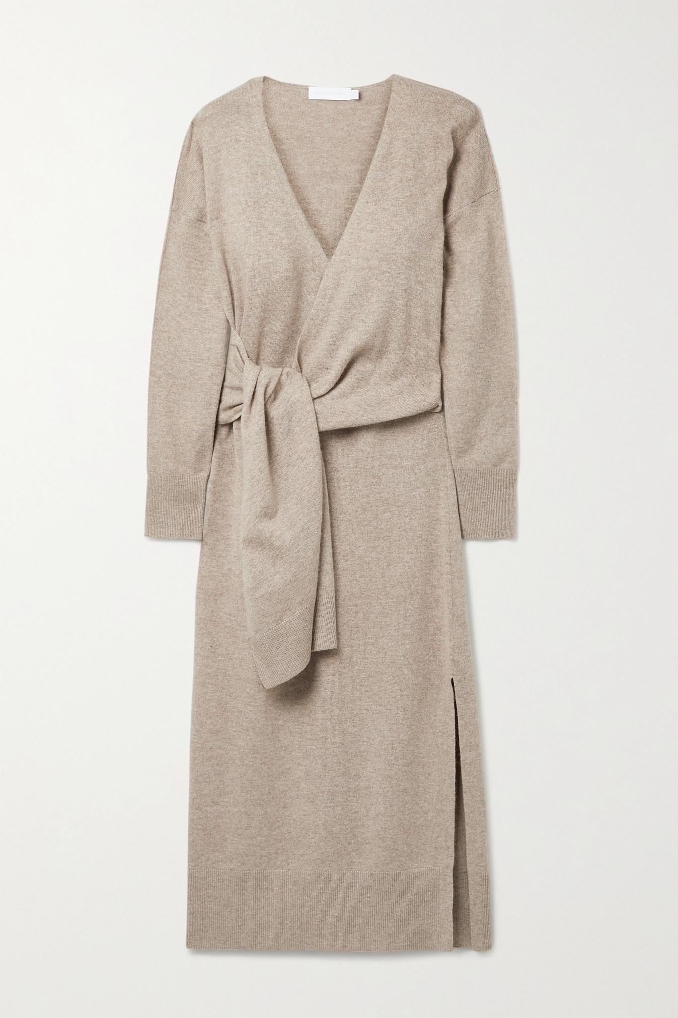 JONATHAN SIMKHAI - Skyla 针织中长裹身连衣裙 - 棕色 - medium