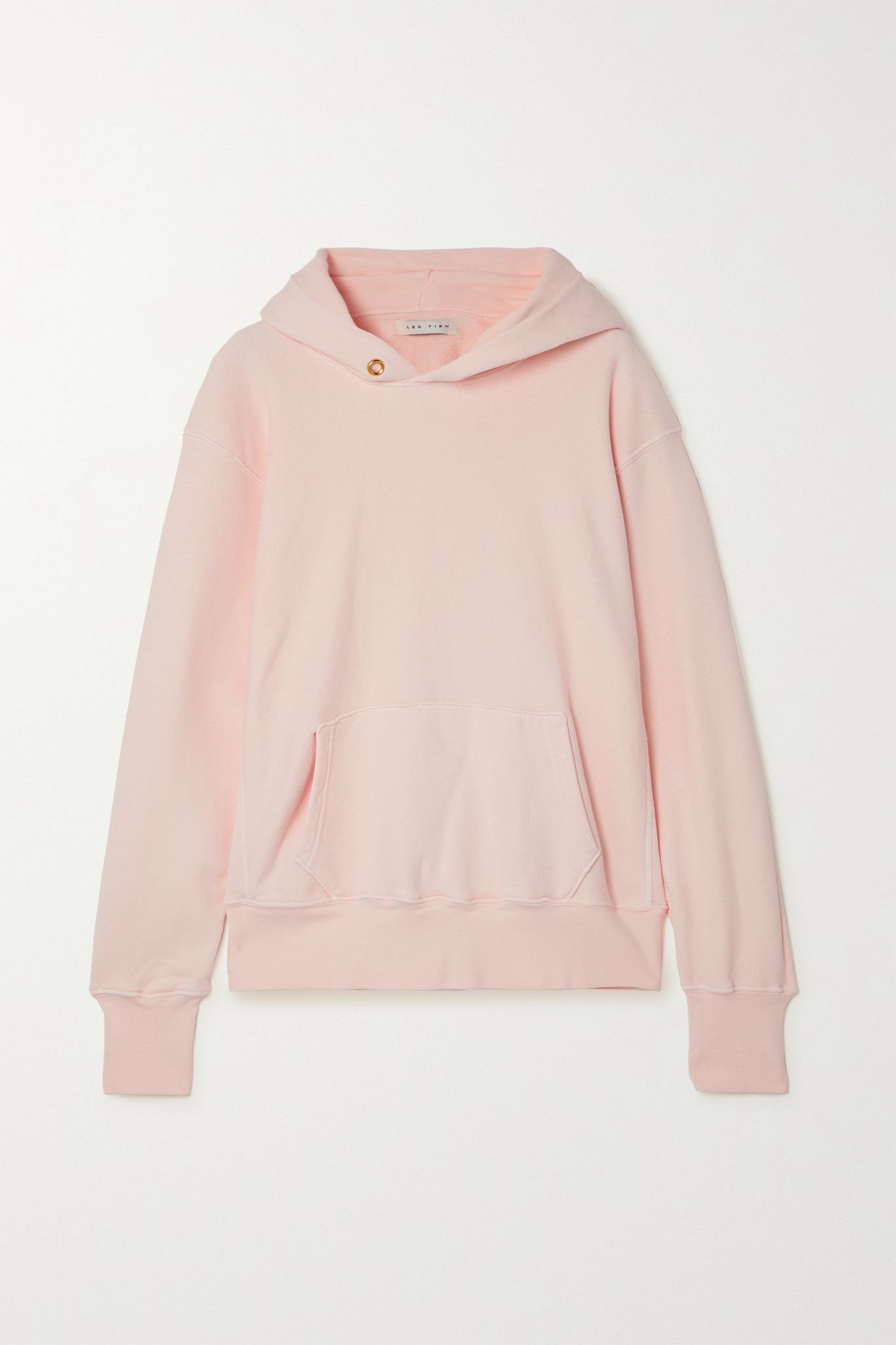 LES TIEN - 纯棉平纹布帽衫 - 粉红色 - x small