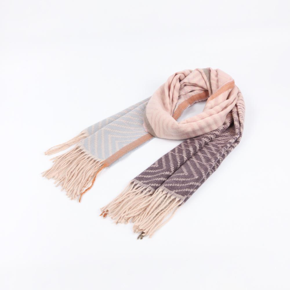niceioi氣質漸層波紋流蘇圍巾