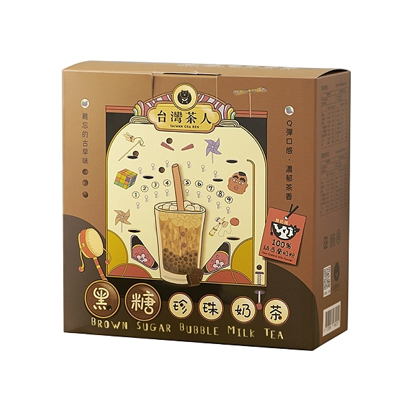 台灣茶人 黑糖珍珠奶茶(5份入)【小三美日】
