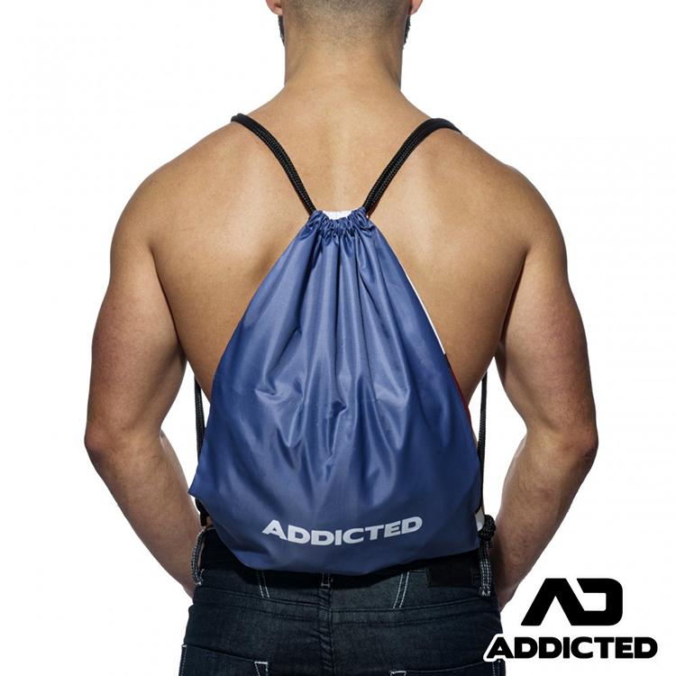 ★初春購物祭★2件79折★ADDICTED上癮系列運動健身袋(白色),AD-MG658N1,西班牙品牌,束口袋