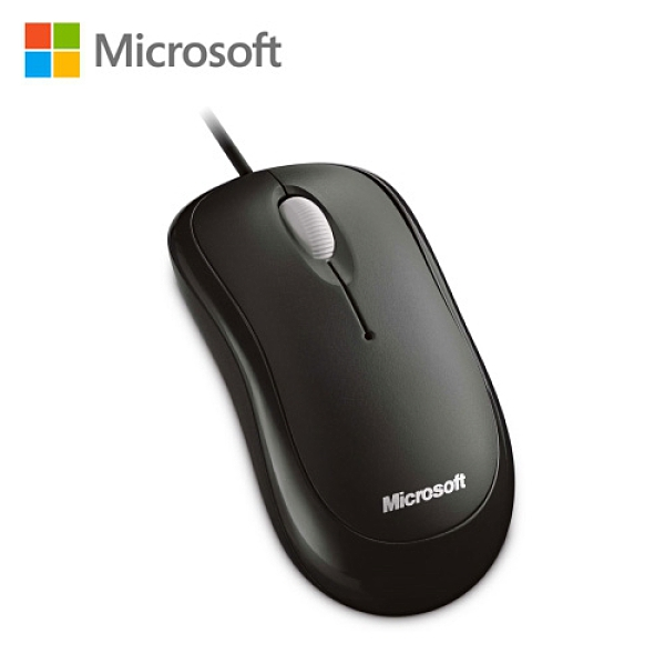 【Microsoft 微軟】入門光學鯊滑鼠 軍艦黑