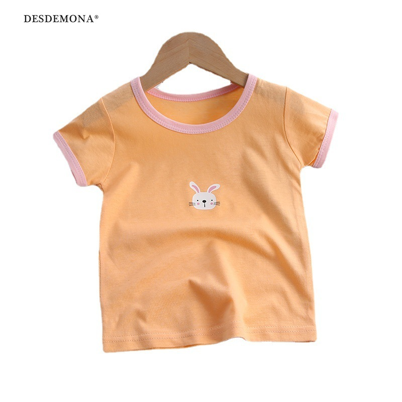 2021年新款上新兒童t恤短袖純棉男寶寶卡通短袖女童夏季新款韓版單上衣童裝